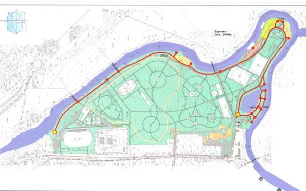 Проект набережной в парке им.50 лет ВЛКСМ в Курске